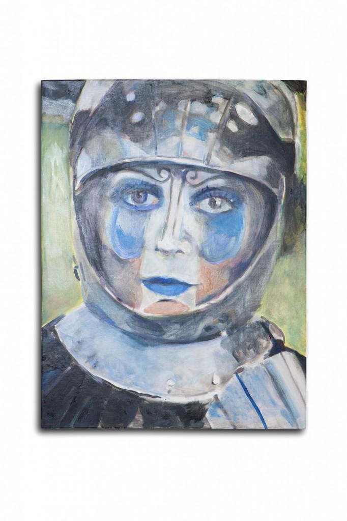 Jean-Luc BLANC, Jeanne, 2015, huile sur toile, 80 x 60 cm, photo Dorine Potel