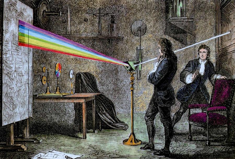 Isaac Newton et la diffraction de la lumière