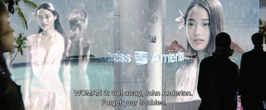 photogramme issu de Minority Report, Steven Spielberg, 2002