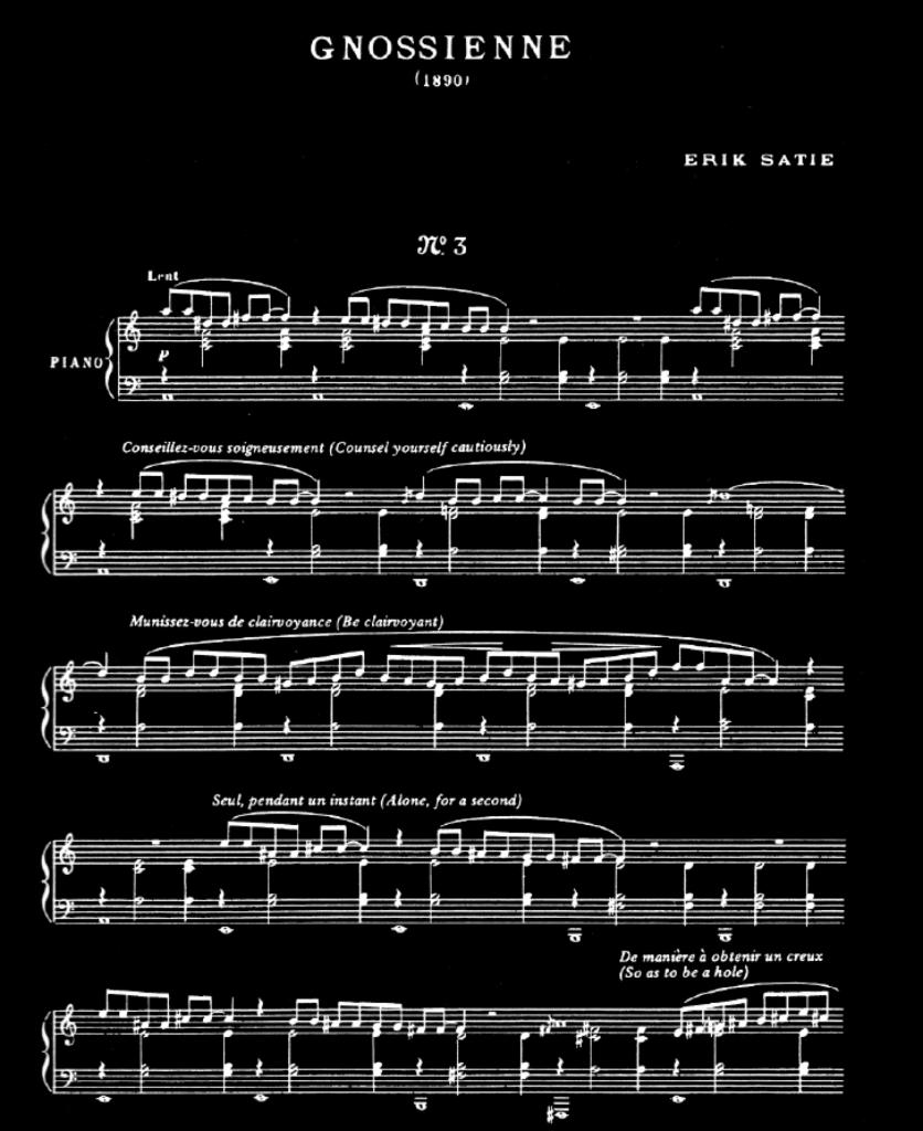 Erik Satie n'hésite pas interpeller le musicien pour guider l'interprétation.