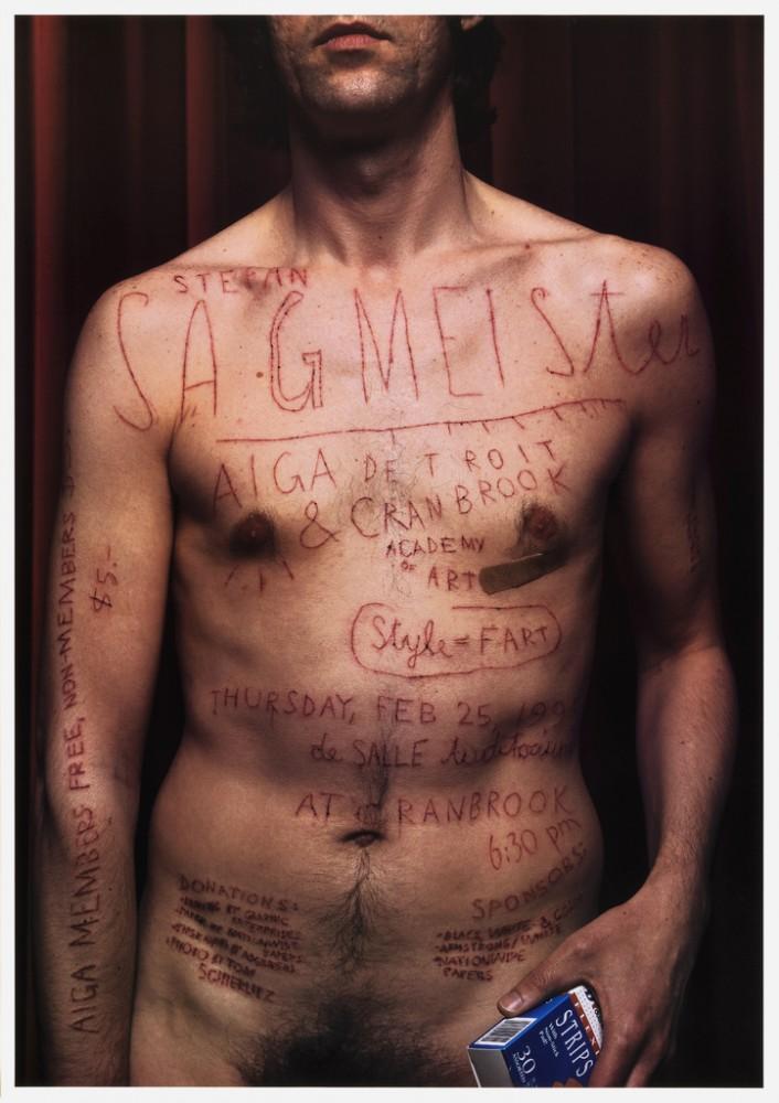 Stefan Sagmeister, conférence Aiga Detroit, 1999