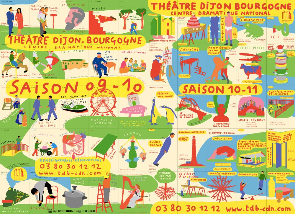Paul Cox, Affiche de saison, Théâtre Dijon Bourgogne, 2009