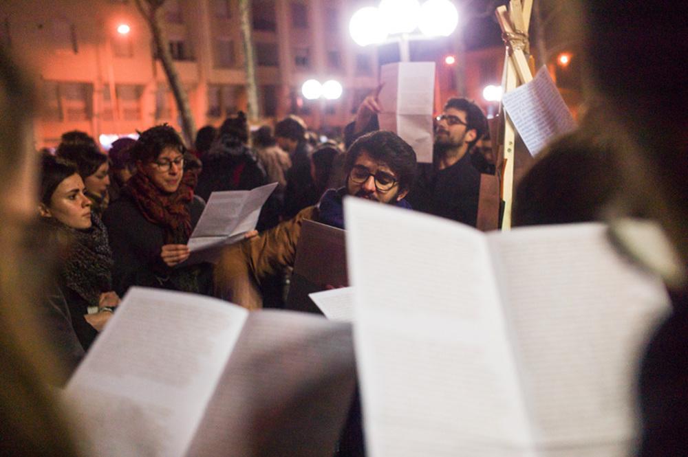 Bâton, Lectures, Mouvements sociaux 2016, Lyon