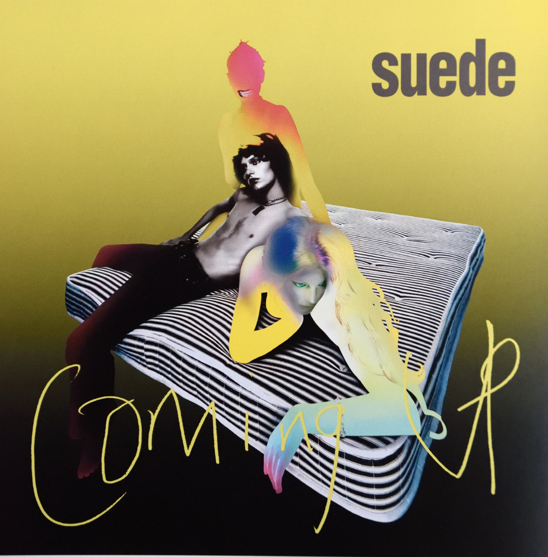 Coming up, pochette d'un disque de Suede avec Nick Knight, Peter Saville et Brett Anderson pour le label Nude, design Howard Wakefield, 1996