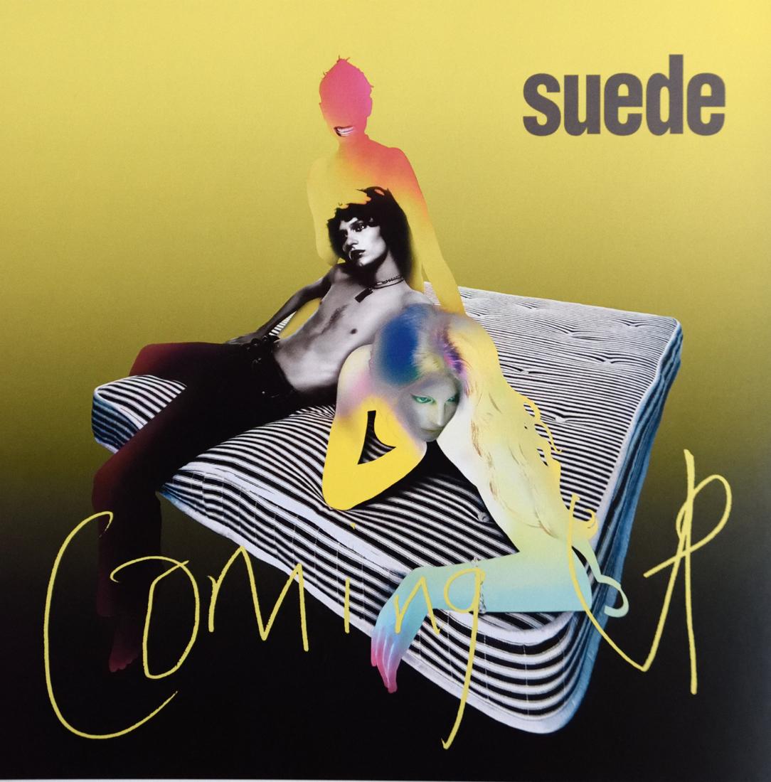 Coming up, pochette d'un disque de Suede avec Nick Knight, Peter Saville et Brett Anderson pour le label Nude, design Howard Wakefield, 1996