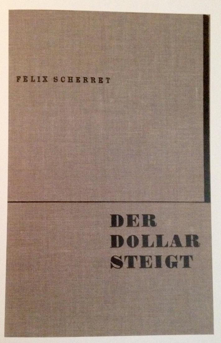 Jan Tschichold, couverture du livre de Felix Scherret, 1930