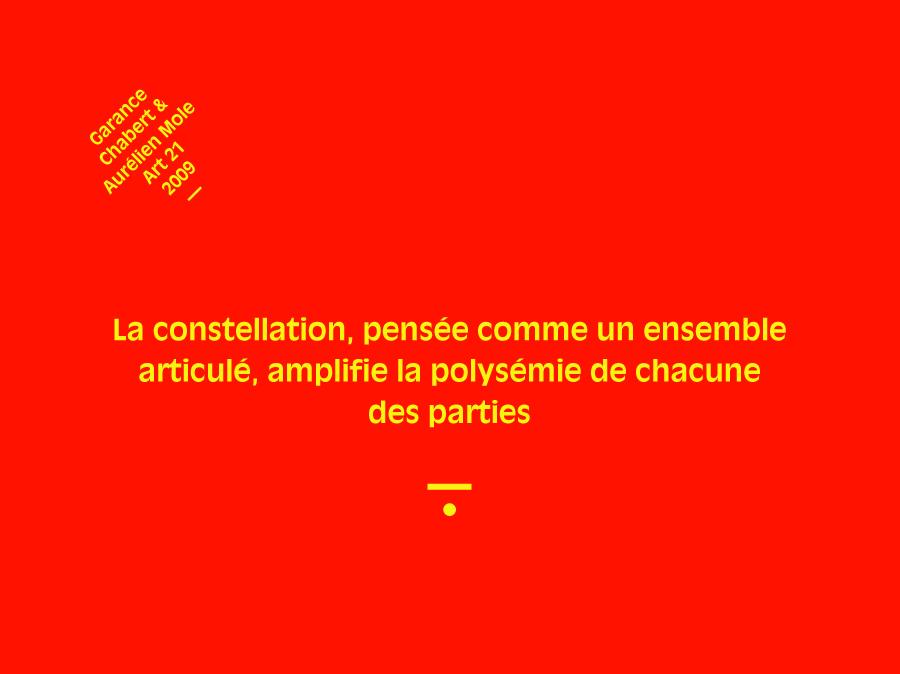 Garance Chabert et Aurélien Mole, Artistes Iconographes, 2009