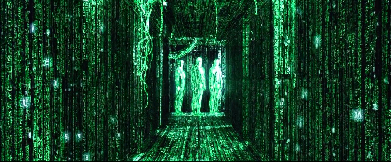 Photogramme extrait de, The Matrix, réalisé par The Wachowskis, 1999.