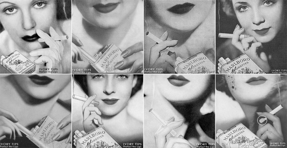 Publicités Marlboro, année 1935
