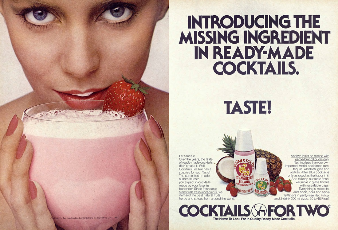 Publicité Cocktails for Two, 1980