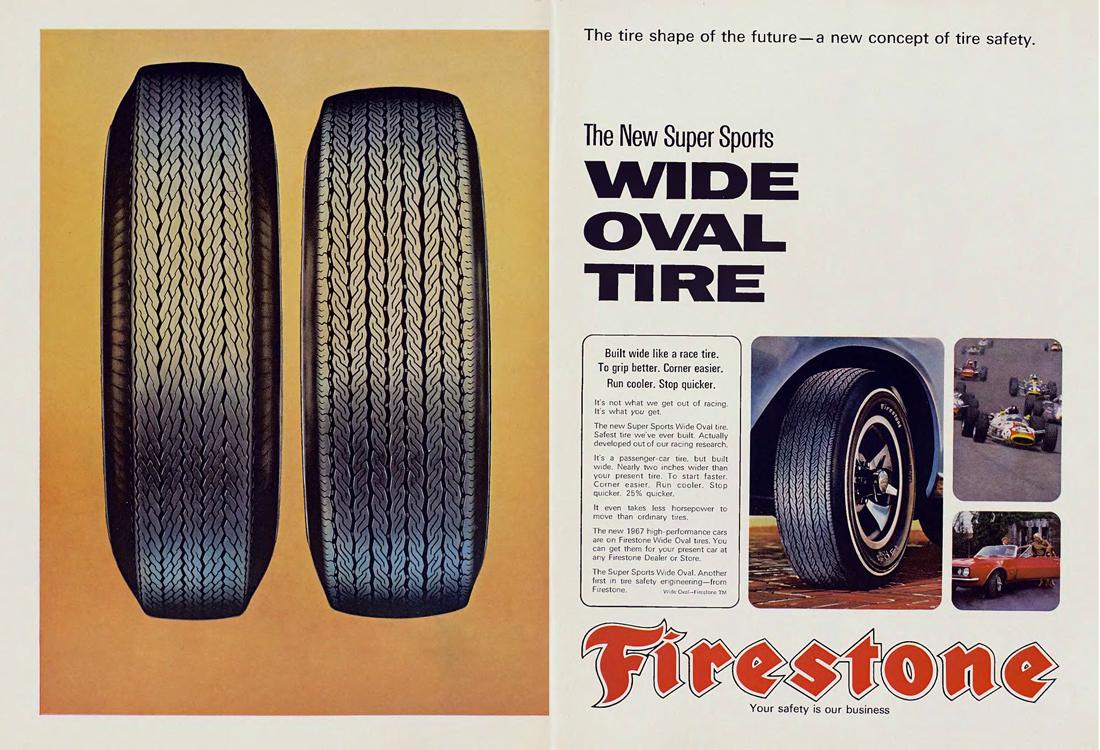 Publicité Firestone, 1967