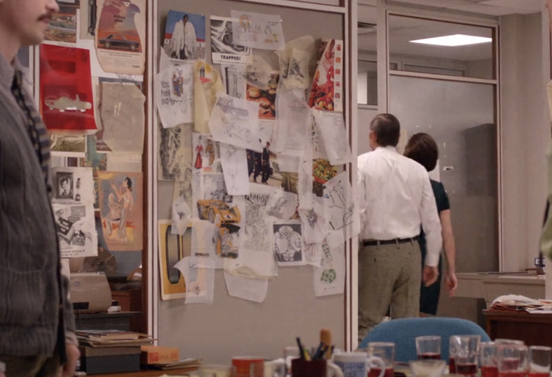 Vidéogramme issu de Mad Men, The Quality of Mercy, épisode 6, saison 12