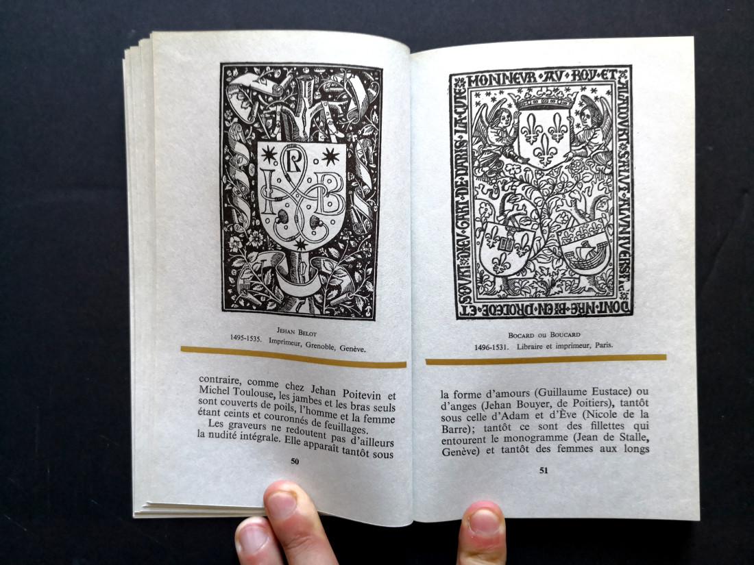 Recueil de quelques marques et de symboles des imprimeurs et des éditeurs de l'âge d'or, École Estienne, 1966