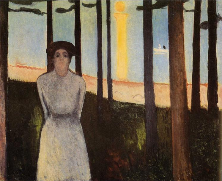 Edvard Munch, Songe d'une nuit d'été (La Voix), 1893 © Museum of Fine Arts, Boston.