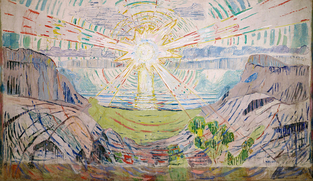 Edvard Munch, Le Soleil, 1909 © University of Olso, Olso.