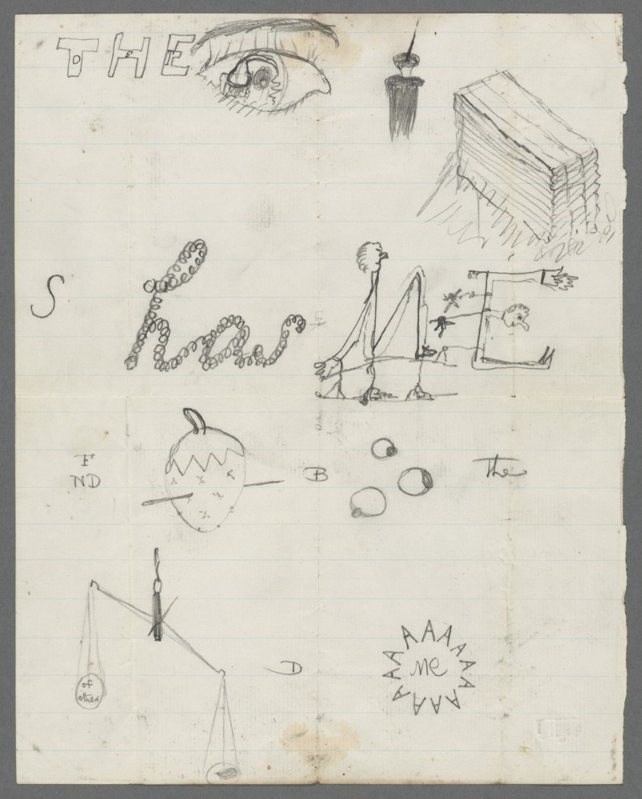 The Charles Sanders Peirce Papers (Ms Am 1632 (52)) © Houghton Library, Harvard University. Publié dans Susan Howe, Spontaneous Particulars – The Telepathy of Archives, New York, New Directions Books, 2014.